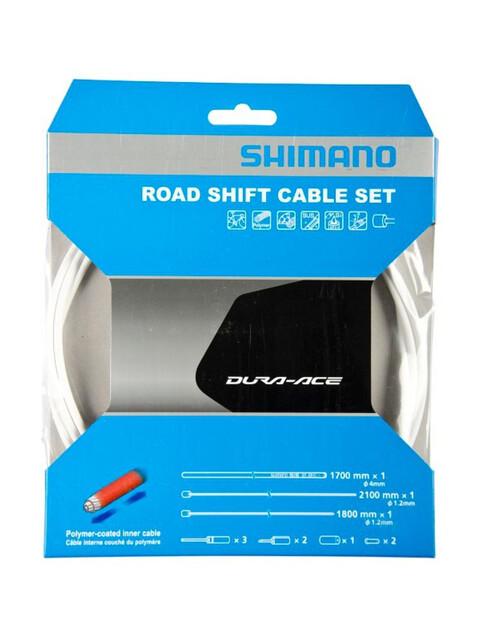 Shimano Road - Cables de cambios y fundas para cables de cambios - recubierto de polímero blanco
